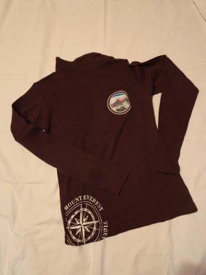 nebulus Camisa de cuello de tortuga marrón