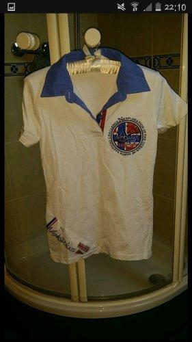 Nebulus Poloshirt weiß blau