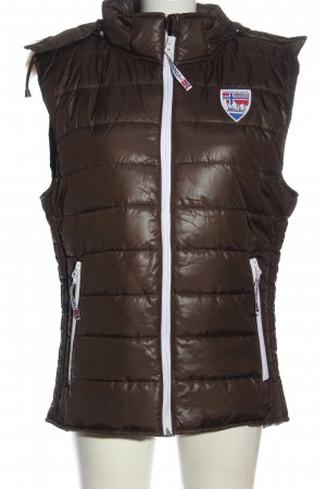 nebulus Quilted Gilet brown quilting pattern casual look