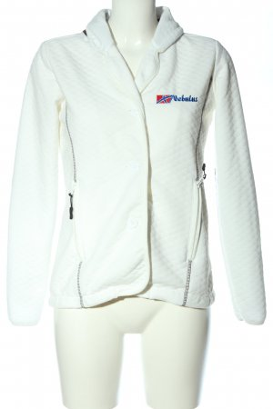 nebulus Knitted Blazer white quilting pattern casual look