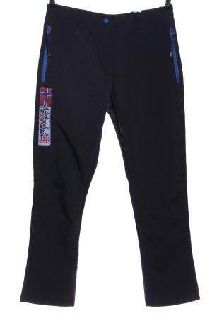 nebulus Pantalon thermique noir-bleu style décontracté