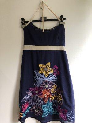 Uttam Boutique Vestido bandeau multicolor Algodón