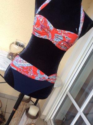 Neckholder Bikini in Gr. 38 B  in rot/blau/pink LIDEA