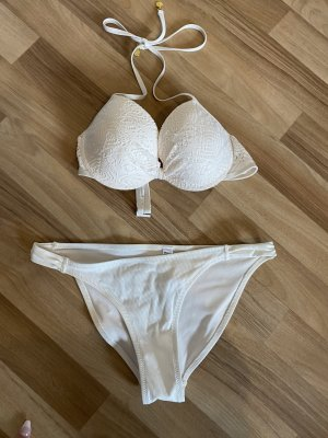Bikini blanc cassé