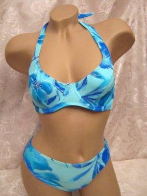 Bikini blue-silver-colored