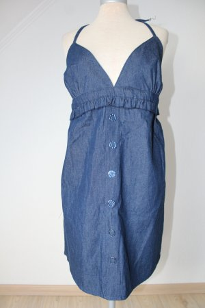 Neckholder Jeans Kleid 100 % Baumwolle neu EU 40