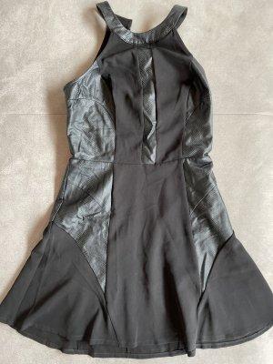 Guess Robe en cuir noir
