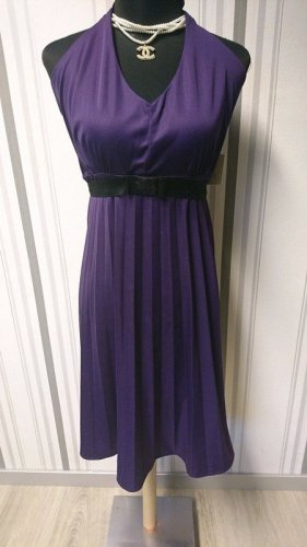 Halter Dress black-lilac mixture fibre