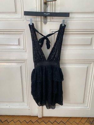 Neckholder Kleid schwarz