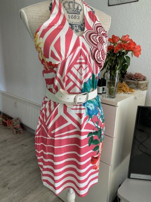 101 Idees Robe dos-nu multicolore polyester