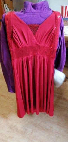 Vestido de cuello Halter rojo oscuro