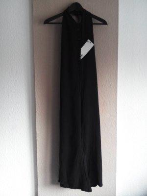 neckholder langer Overall mit Knöpfen in schwarz, 100% Lyocell, Größe S neu