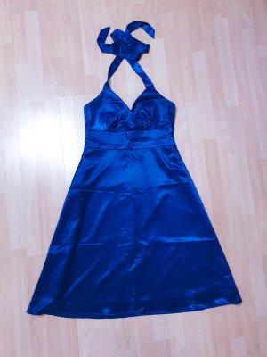 Neckholder Midi-Kleid in A-Linie aus Satin