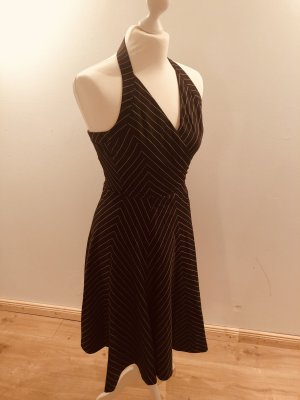 Zara Basic Halter Dress dark brown-black brown