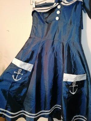 dress190 Robe avec jupon multicolore satin