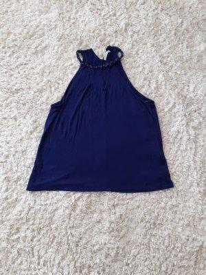 Orsay Top senza maniche blu acciaio