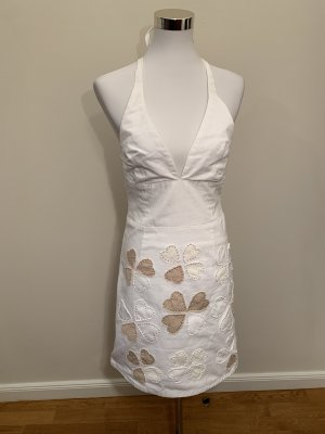Vestido de cuello Halter blanco