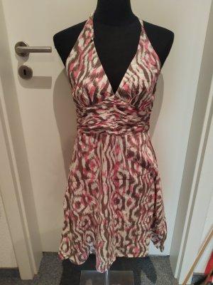 H&M Sukienka z dekoltem typu halter Wielokolorowy Bawełna