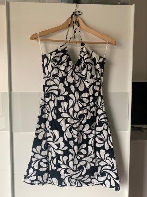 H&M Robe dos-nu noir-blanc