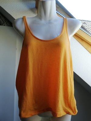Buffalo London Top z dekoltem typu halter żółty-pomarańczowy
