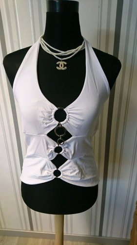 Halter Top white mixture fibre