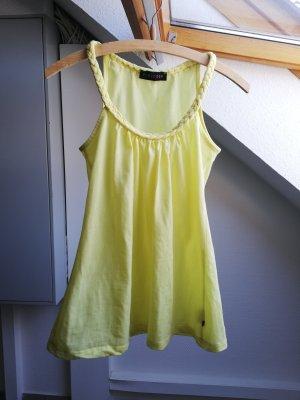 Melrose Top z dekoltem typu halter żółty