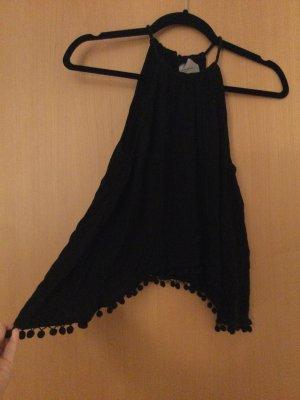 Vero Moda Top z dekoltem typu halter czarny