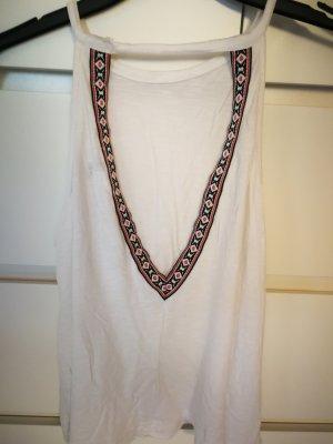 H&M Blusa sin espalda blanco