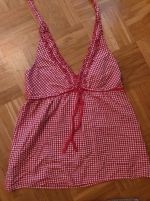 Halter Top white-brick red