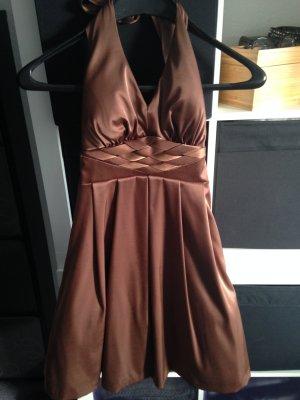 Vila Halter Dress cognac-coloured polyester