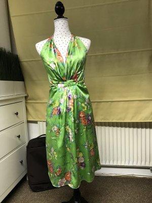 Miguelina Halter Dress multicolored
