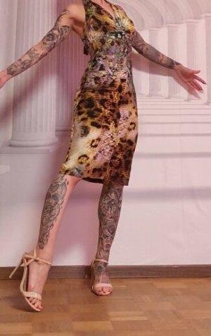 rick cardona Sukienka z dekoltem typu halter Wielokolorowy