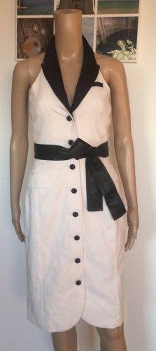 H&M Robe dos-nu blanc-noir