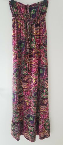 Sukienka boho Wielokolorowy Tkanina z mieszanych włókien