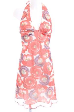 Vestido de cuello Halter estampado floral elegante