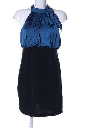Neckholderkleid blau-schwarz Elegant