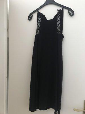 Reserved Vestido de cuello Halter negro-blanco