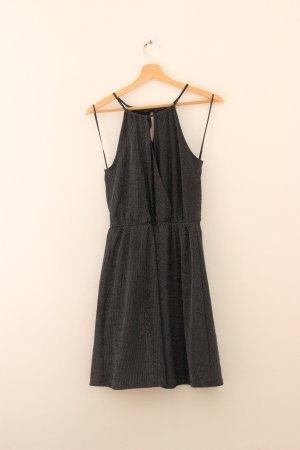 Clockhouse Halter Dress silver-colored-black