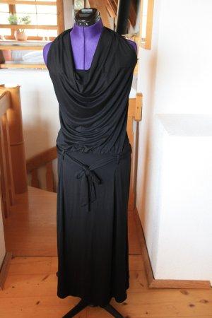 Benetton Sukienka z dekoltem typu halter czarny Wiskoza