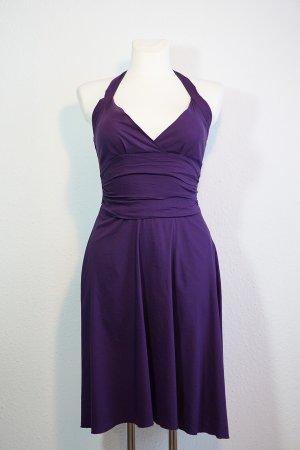 Zero Base Robe dos-nu violet foncé coton