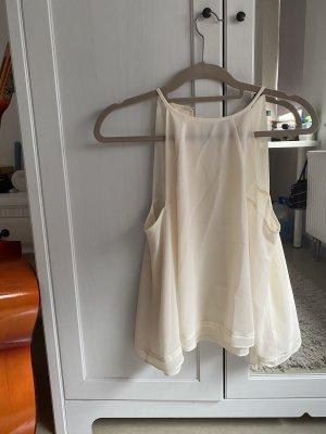 Zara Top senza maniche bianco-crema