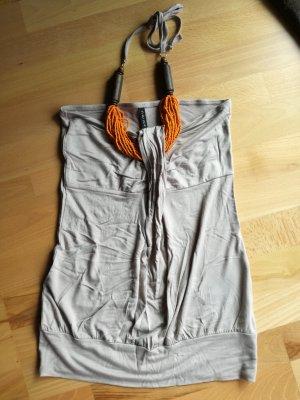 Amisu Top senza maniche beige-arancione