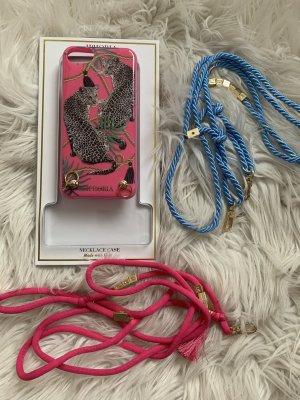 Apple Key Chain pink-blue
