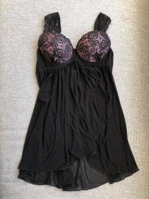 Negligé negro-rosa