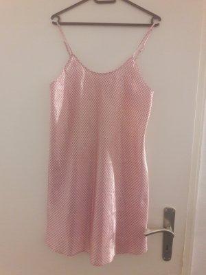 Negligè Nachthemd Nachtkleid rosa kariert von Queentex