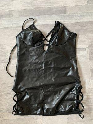 Négligé noir cuir