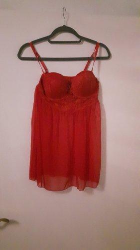 H&M Peniuar czerwony-ceglasty