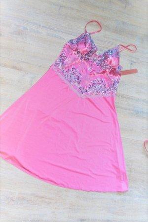 Peniuar różowy-jasnoszary