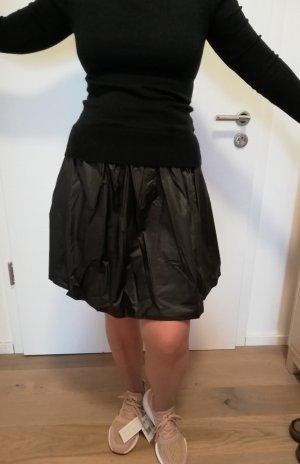Neighborhood Faux Leather Skirt black