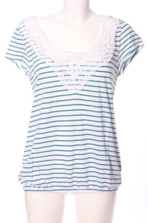 Neighborhood Oversized Shirt weiß-blau Streifenmuster Casual-Look